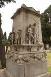 Wojennego pomnika Bonaria cmentarz Obraz Royalty Free