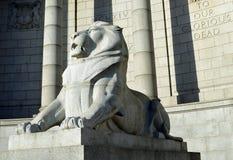 Wojennego pomnika lew, Aberdeen, Szkocja Fotografia Royalty Free