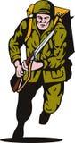 wojenny żołnierza TARGET1881_1_ świat ii Zdjęcia Royalty Free