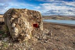 Wojenny bunkier, miasteczko Najwięcej, Północna cyganeria, republika czech obraz stock