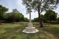 Wojenny cmentarz w Trincomalee, Sri Lanka zdjęcie royalty free