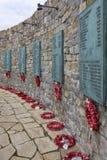 Wojenny Falklands Pomnik - Falkland Wyspy Obraz Royalty Free