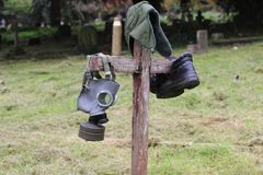 Wojenny grób Zdjęcie Royalty Free