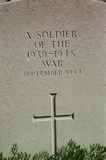wojenny gravestone świat ii Fotografia Royalty Free