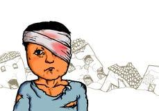 Wojenny ofiara uchodźca ilustracji
