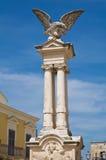 Wojenny pomnik. Montescaglioso. Basilicata. Włochy. Fotografia Stock