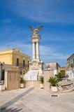 Wojenny pomnik. Montescaglioso. Basilicata. Włochy. Zdjęcie Stock