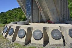Wojenny pomnik w Niksic Obrazy Royalty Free