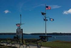 Wojenny pomnik W Portland, Maine zdjęcia stock