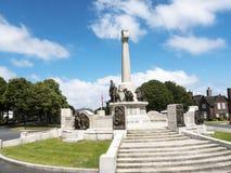 Wojenny pomnik w Portowym świetle słonecznym zdjęcia stock