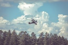Wojenny samolot fotografia royalty free