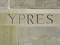 Wojna Światowa 1 Ypres Belgia Obraz Royalty Free