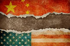 Wojna handlowa między usa i Chiny pojęciem Fotografia Stock