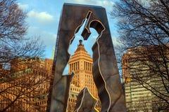 Wojna Koreańska pomnik w Bateryjnym parku obraz royalty free