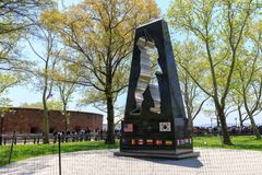 Wojna Koreańska pomnik w Nowy Jork miasta Bateryjnym parku obraz stock