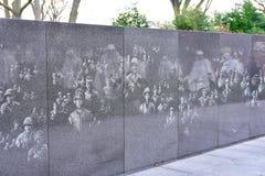 Wojna Koreańska weterani Pamiątkowi w Waszyngton, DC, usa obraz royalty free