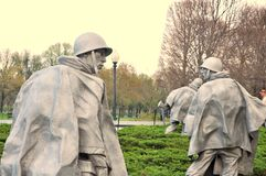 Wojna Koreańska pomnik, usa zdjęcie royalty free