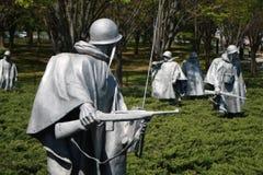 Wojna Koreańska weteranów pomnika washington dc Fotografia Stock