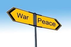 Wojna lub pokój Zdjęcie Royalty Free