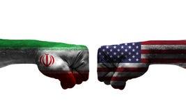 Wojna między 2 krajami obraz stock