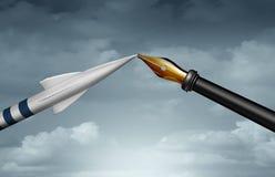 Wojna Versus dyplomacja ilustracji