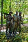 Wojna W Wietnamie pomnik w national mall Waszyngton fotografia stock