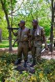 Wojna W Wietnamie pomnik w national mall Waszyngton USA obraz royalty free