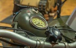 Wojna światowa dwa - motocyklu wymiernik Fotografia Royalty Free