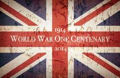 Wojna Światowa Jeden stulecie Union Jack fotografia stock
