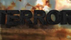 Wojna z terroryzmem Co jest terroryzmem ilustracja wektor