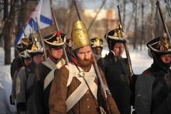 Wojna 1812 Zimy kampania zdjęcie royalty free