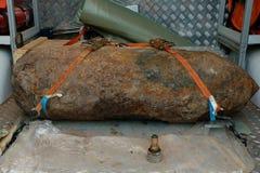 Wojny Światowa 2 Bombowego lontu DÃ ¼ sseldorf Niemcy Zdjęcia Stock