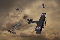 Wojny Światowa Jeden samolot royalty ilustracja