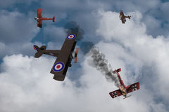 Wojny Światowa Jeden samolot ilustracji