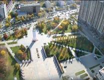 Wojny światowa 2 Pamiątkowy kwadrat Tyumen Rosja Obraz Stock