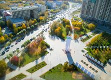 Wojny światowa 2 Pamiątkowy kwadrat Tyumen Rosja Fotografia Royalty Free