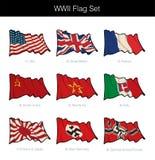 Wojny Światowa Dwa flaga Macha set ilustracji