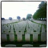 Wojny światowa jeden cmentarz zdjęcia stock