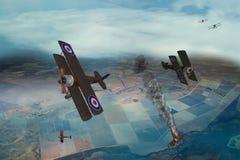 Wojny Światowa Jeden samolot Obraz Royalty Free
