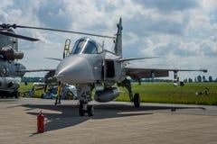 Wojownik, atak i wywiadowczy samolot Saab JAS-39 Gripen, Zdjęcie Royalty Free
