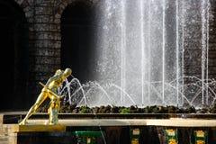 Wojownik Borghese Rzeźba Uroczysta kaskada w Petergof Zdjęcia Royalty Free