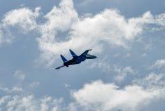 Wojownik SU-27 przy pokazem lotniczym w Nizhniy Tagil, Rosja Zdjęcia Royalty Free