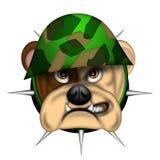 wojska byka psa anglików kierowniczy hełm ilustracji