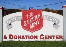 wojska centrum darowizny salwowanie Zdjęcia Royalty Free