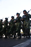 wojska meksykańska żołnierzy wycieczka turysyczna Fotografia Stock