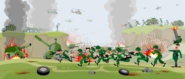 Wojska na polu bitwy ilustracja wektor