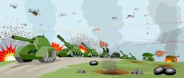 Wojska na polu bitwy ilustracji