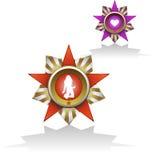 wojska odznak miłość ilustracja wektor