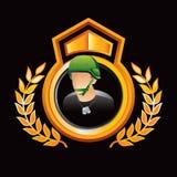 wojska pokazu złocisty królewski żołnierz Fotografia Royalty Free