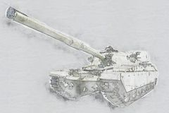 wojska tła odosobniony cysternowy biel ilustracji